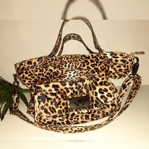 Kenneth Cole Reaction Leopard Print Strappy Tote